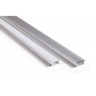 Profile aluminium Encastrable 17x7mm 2m - Sans diffuseur