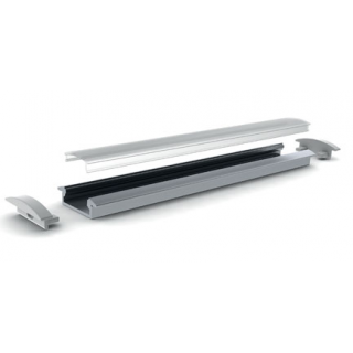 Profile aluminium Encastrable 23x8mm 2m - Sans diffuseur