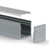 Profile aluminium Saillie 35x35mm 2m - Sans diffuseur