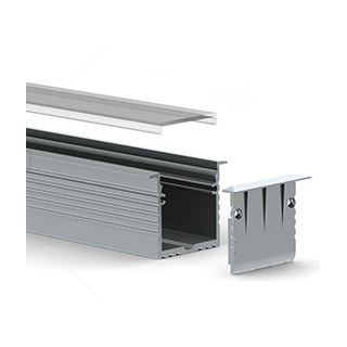 Profile aluminium Encastrable 35x35mm 2m - Sans diffuseur