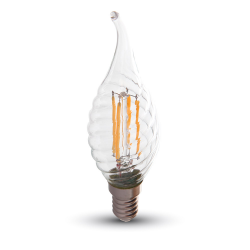 Ampoule LED V-TAC FLAMME FILAMENT 4W E14 VARIABLE VT-1995