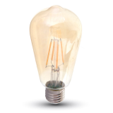 Ampoule LED V-TAC FILAMENT 4W E27 VARIABLE VT-1964D
