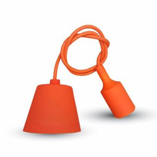 Suspension V-TAC POUR Ampoule E27 ORANGE VT-7228