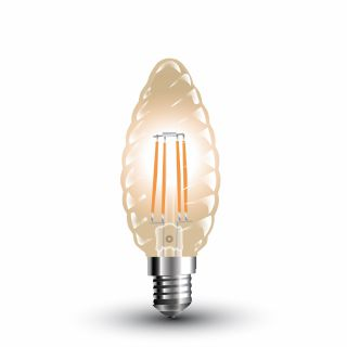 Ampoule LED V-TAC FILAMENT BOUGIE 4W E14 VT-1948