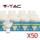 SPOT LED V-TAC OPTIC 7W GU10 Pack 50 VT-2778