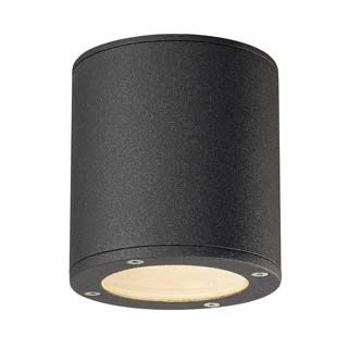 SITRA, plafonnier, rond, anthracite, GX53, max. 9W